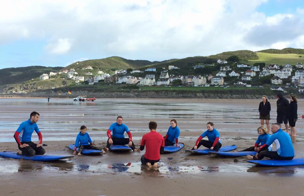 beach surfing lesson Woolacombe Bay