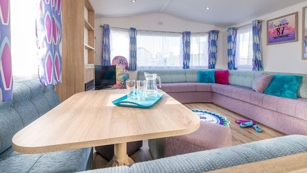 Gold self catering caravan