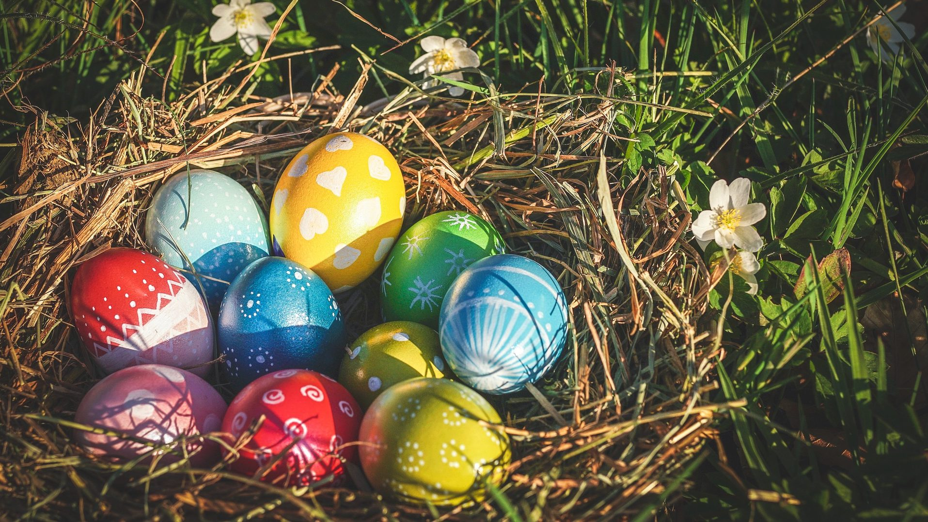 easter eggs at easter