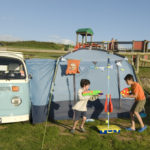 camper and awning