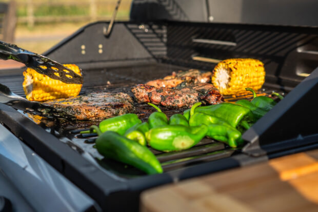 grilled corn on the barbie