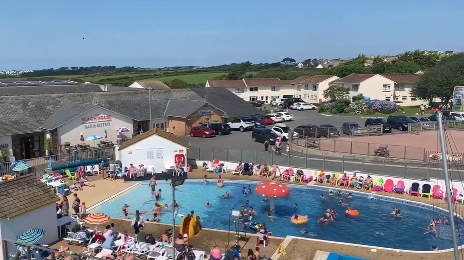 Outdoor fun pool at Golden Coast Holiday Park in Woolacombe open from May